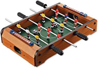 PUEEPDEE Foosball Table Soccer Mini Wooden Indoor Table Football Competition Table Top Set Game Room Sports with Handles for Kids and Adults 13.6''8.5''3.1'' Foosball Table Cover Outdoor