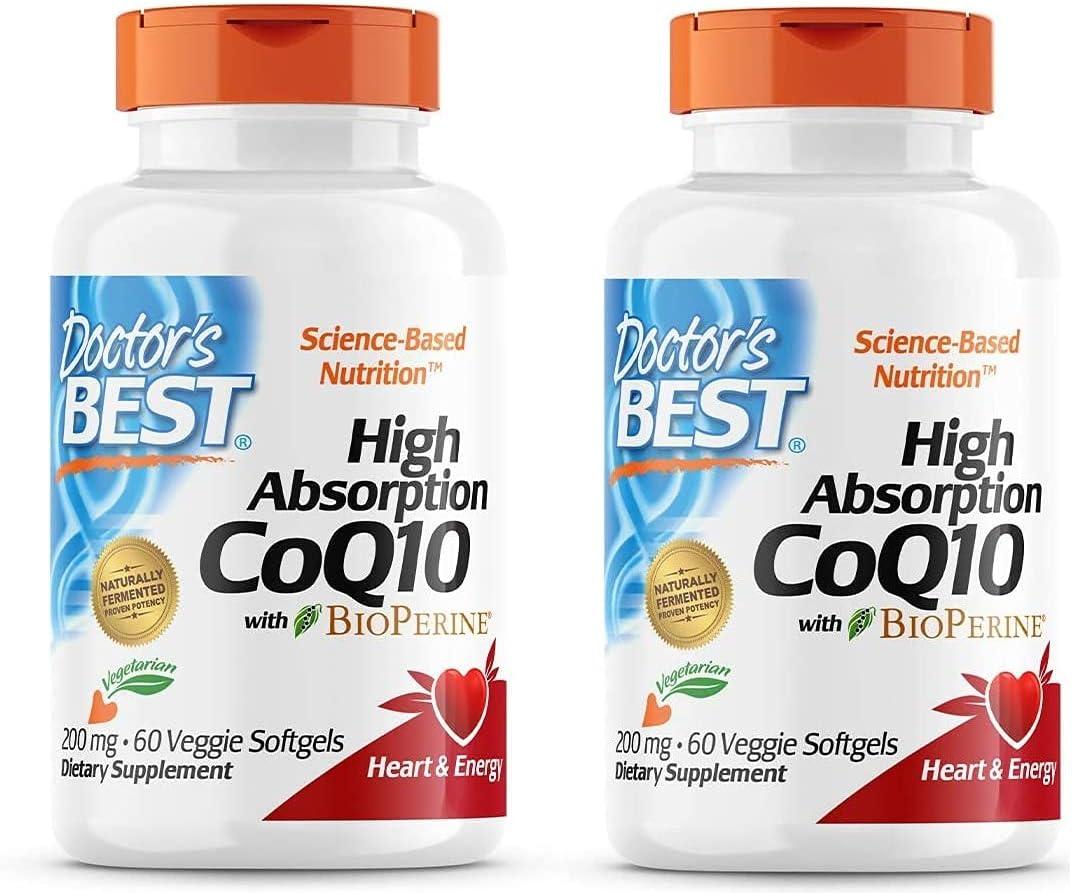 High Max 64% OFF Absorption CoQ10 with BioPerine Free Vegetarian N Gluten Las Vegas Mall