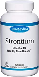 EuroMedica Strontium - 60 Capsules - Key Mineral for Bone Health - Supports Bone Formation, Strength & Density - Non-GMO, ...