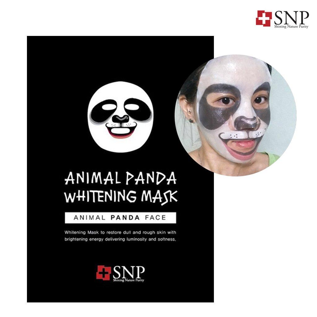 矩形禁じる最終SNP アニマル パンダーホワイトニング マスク 10枚 / animal fanda whitening wrinkle mask 10ea[海外直送品]