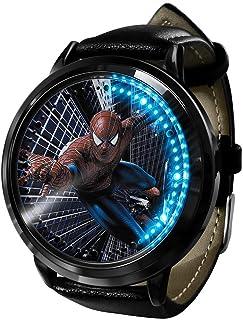 Marvel Spiderman Digital Light Man para niño Reloj de Cuarzo para niños, Relojes LED Digitales Impermeables Deportivos par...