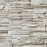 Stone Peel and Stick Wallpaper 17.7'x196'' Brick Self-Adhesion Wallpaper Waterproof Removable Wallpaper for Fireplace Background Wall Living Room Bedroom Bathroom Home Decoration Vinyl Roll