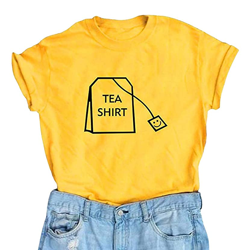 Lmx+3f Women Girl Funny Short Sleeve Cotton Shirts Cute Junior Graphic Tee Top Blouse Solid Color Soft Comfy Shirt