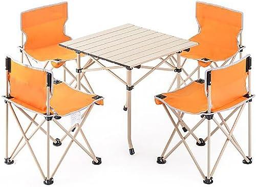 KOKR Camping Table + 4 Chaises + Sac de Transport   pliant léger petit portable   pour pique-nique festival grillade randonnée pêche parc