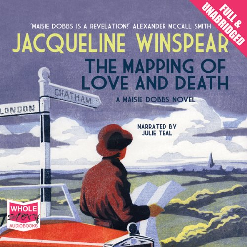 The Mapping of Love and Death                   By:                                                                                                                                 Jacqueline Winspear                               Narrated by:                                                                                                                                 Julie Teal                      Length: 11 hrs and 1 min     10 ratings     Overall 4.5