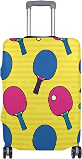 Mydaily Pop Colorful Table Tennis Bat Luggage Cover Fits 18-32 Inch Suitcase Spandex Travel Baggage Protector