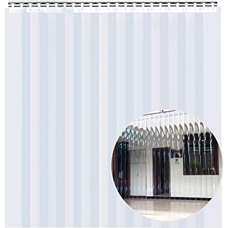Hardware included common door kit 5 ft 60 in. strips with 67/% overlap width X 96 in. 8 ft Standard smooth 6 in Strip-Curtains.com: Strip Door Curtain height