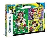 Clementoni- 3 Puzzles 48 Piezas Ben 10 (25225.1)