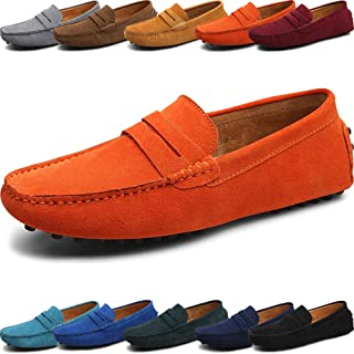Suede Genuine Leather Loafer Shoes for Men and Women – Classic Slip On – Comfortable Male