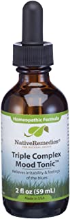 Sponsored Ad - Native Remedies Triple Complex Mood Tonic - Natural Homeopathic Formula Relieves Symptoms of Poor Mood and ...