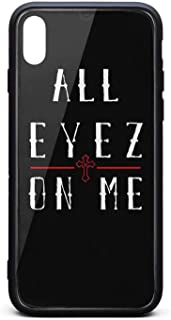 iPhone X/iPhone Xs Case Tupac-Shakur-All-Eyez-on-Me-7- Shockproof Tempered Glass Back Cover Soft TPU Bumper Shell for iPhone X/iPhone Xs