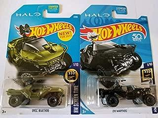 Hot Wheels HALO Hw Screen Time UNSC Warthog (Green) & ONI Warthog (Black) - Set of 2!