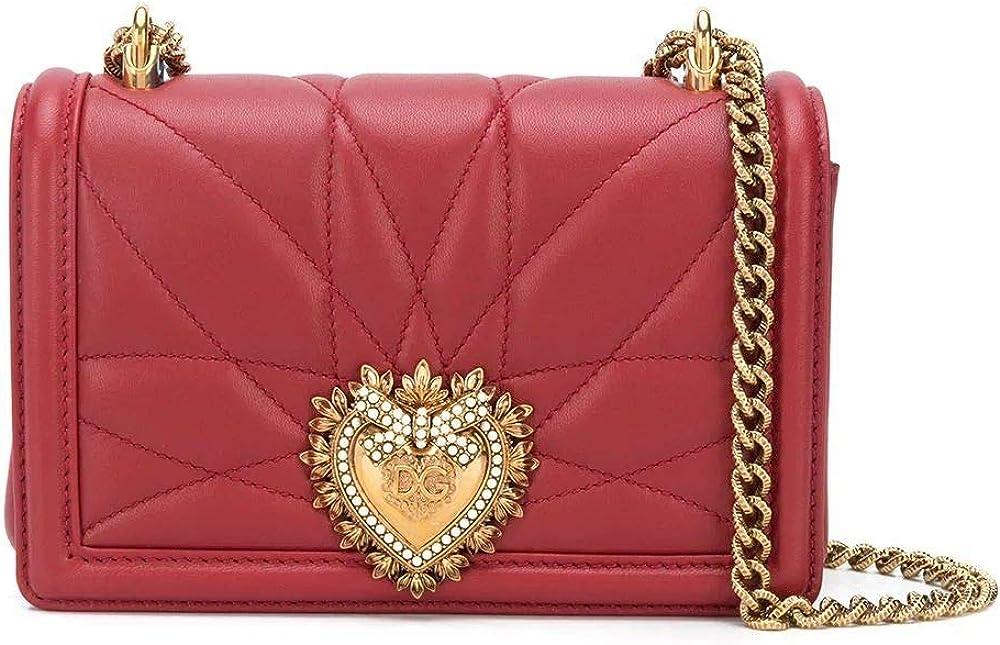Dolce & gabbana luxury fashion,borsa a spalla per donna,in vera pelle,con logo in vista BB6880AV96787124