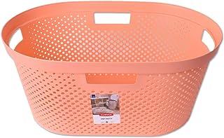 Curver Cesta Ropa Infinito Recolector de Ropa Tina de Lavado W/äschesortierung Almacenamiento Lavander/ía Baskets 40L Peach Naranja