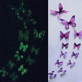 ZXZMONG Wall Sticker DIY ,Wallpaper,DIY Stickers Muraux,12 Pcs Papillon Autocollant Mural pour Chambre d'enfants Art 3D Dé...