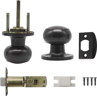 8 Pack Probrico Interior Passage Keyless Door Knobs Door Lock Handle Handleset Lockset Without Key Doorknobs Oil Rubbed Bronz
