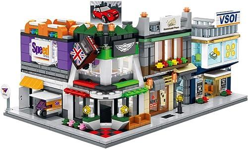 Zzh Bausteine Partikel montiert Mini-Stadt Stra -Ansicht Modell Chenghai Spielzeug Kinder Bausteine Lichter frühes Bildungsleben