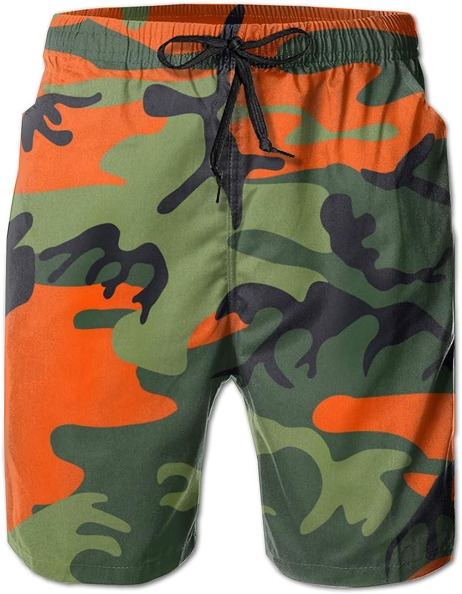 QSMX Mens Swimming Trunks with Mesh Lining and Pockets Beach Shorts (M/L/XL/XXL)