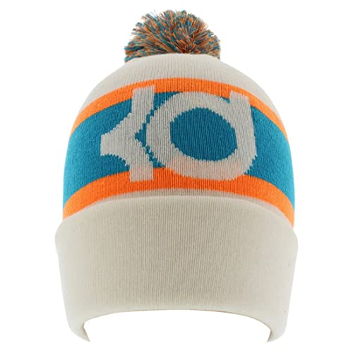 496f58e88f5 Nike Unisex KD Icon Pom Cuff Cream White Orange Beanie Hat One Size