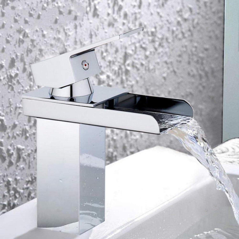 Gorheh Wassermischbatterie Waschbecken Wasserhahn Bad Waschbecken Wasserhahn Mischbatterie Messing Wasserhahn Wasserfall Waschbecken Wasserhahn Einlochmontage Wasserhahn