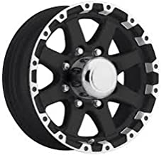 New 16 Inch 8 on 6.5 Matte Black and Machined 8 Spoke Aluminum Trailer Wheel T08 66867MBML