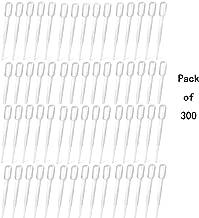 300 PCS 2ml Disposable Plastic Transfer Pipettes,Clear Plastic Liquids Pipetting Pipette