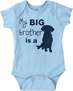 Big Brother Dog Animal Pet Puppy Newborn Romper Bodysuit