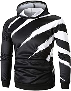 Clearance On Sale Litetao Men's Long Sleeve Line 3D Printed Hoodie Sweatshirt Tops Tee Outwear Sport Cool