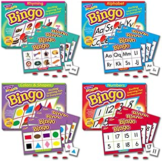 Bingo Games Set of 4 - Alphabet, Rhyming, Numbers, Colors & Shapes