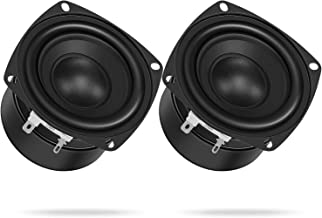 $20 » 3 Inch Full Range Speakers, DROK 2PCS 8Ohm 15W Antimagnetic Square Speaker 52mm Strong Interference-Proof Tweeter Speaker ...