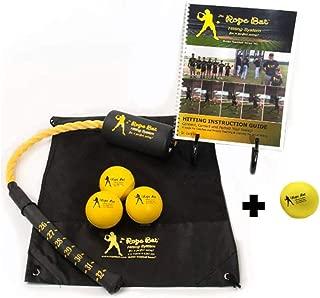 Rope Bat - The Ultimate Hitting System w/Smushballs - Baseball & Softball Swing Trainer, Training Tool, Batting Aid
