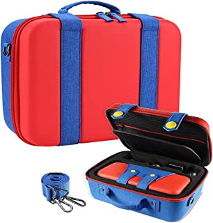 Travel Carrying Storage Case Compatible with Nintendo Switch System Protective Hard Shell Cute Deluxe Bag for Console Cont...