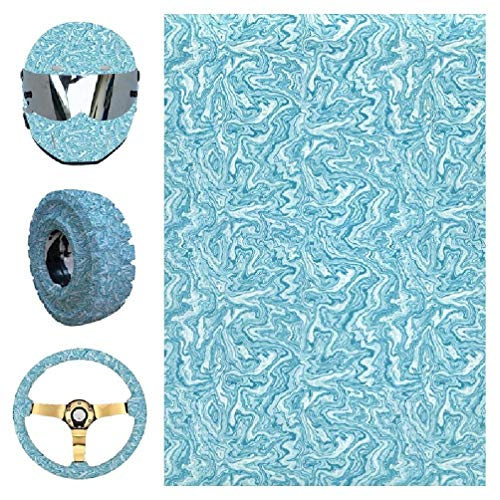 XYHSUTENARKA YS034 Wassertransferdruck Hydrografische Folie Hydro Dipping Hydro Dip Film für Multifunktion Home Car Guit Decor Hydrographic Film Kit Schwarz