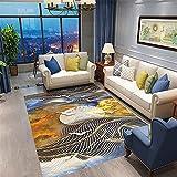 amarillo Alfombra De Sala De Estar Nuevo paisaje dorado, sala de...