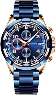 MINI FOCUS MF0198G Men Watch Stainless Steel Strap Quartz Movement Simple Wristwatch Time Display Casual Waterproof Clock ...