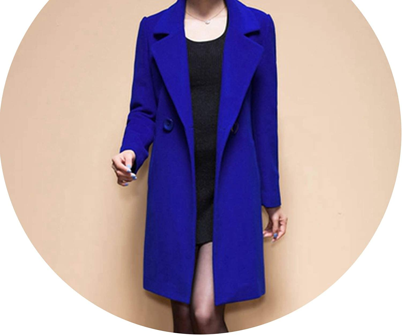 Dreamedge Wool Coat Women Woolen Coats Highend Elegant Long Slim Winter Jacket Royal Coats&Jackets