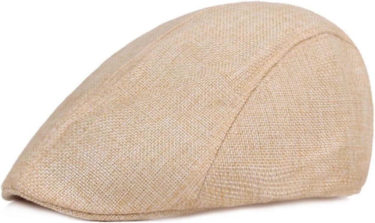 JBIVWW KJACR Men Beret Vintage Herringbone Tweed Peaky Blinders hat Newsboy Beret Hat Spring Flat Peaked Beret Hats (Color : Beige)