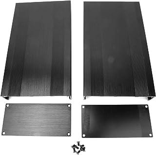 CHICIRIS Caja de Aluminio, disipador de Calor, Bricolaje electrónico, Duradero Cepillado Profesional práctico óxido Negro ...