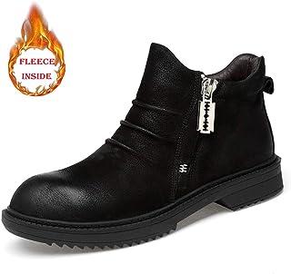 c2bb5fb1fb8430 SHENNANJI La Mode des Chaussures Hautes pour Hommes Cheville Bottes  décontractée Confortable et Pratique en Polaire