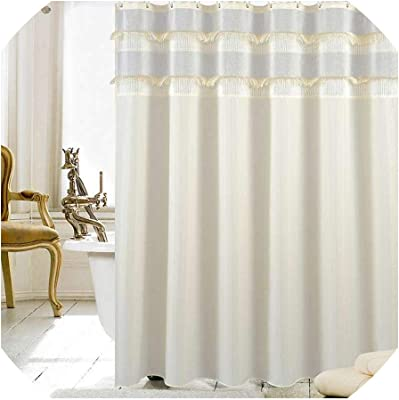 HMWR Pink Hamsa Hand of Fatima Good Luck Symbol Fabric Shower Curtain Oriental Ornament Meditation Mandala Bathroom Decor Weighted Shower Curtain for Bathtub Showers,72 x 72 White