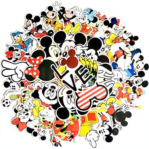 YUESEN Mickey Aufkleber 100PCS Mickey Maus Stickers Alben Graffiti Laptop Skateboard Gepäckaufbewahrung Fahrrad Kinder DIY Decal Sticker