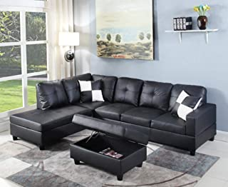 l shaped faux leather sectional