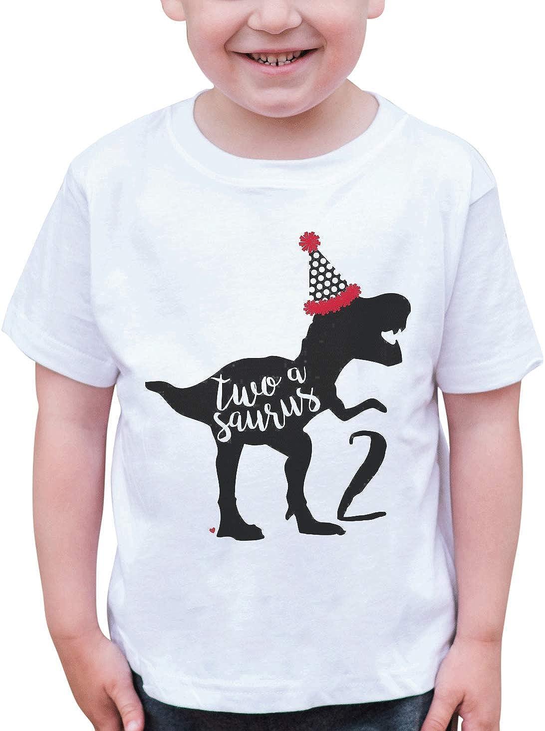 7 ate 9 Apparel Dino Two 2 Second 2nd Birthday Dinosaur T-Shirt
