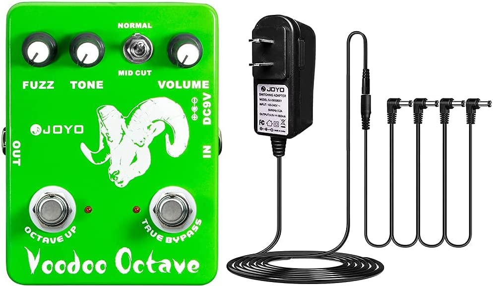 JOYO Fixed price for sale Voodoo Shipping included Octave Fuzz Pedal with Power Supply DC 9V