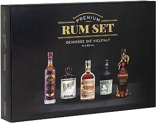 Premium Rum Tasting Set 5 x 50 ml : Ron Botucal Exclusiva, Remedy Spiced Rum, Ron Centenario 20, Don Papa 7 Jahre und Prohibido Gran Reserva - das perfekte Geschenk für Rum / Spirituosen - Liebhaber