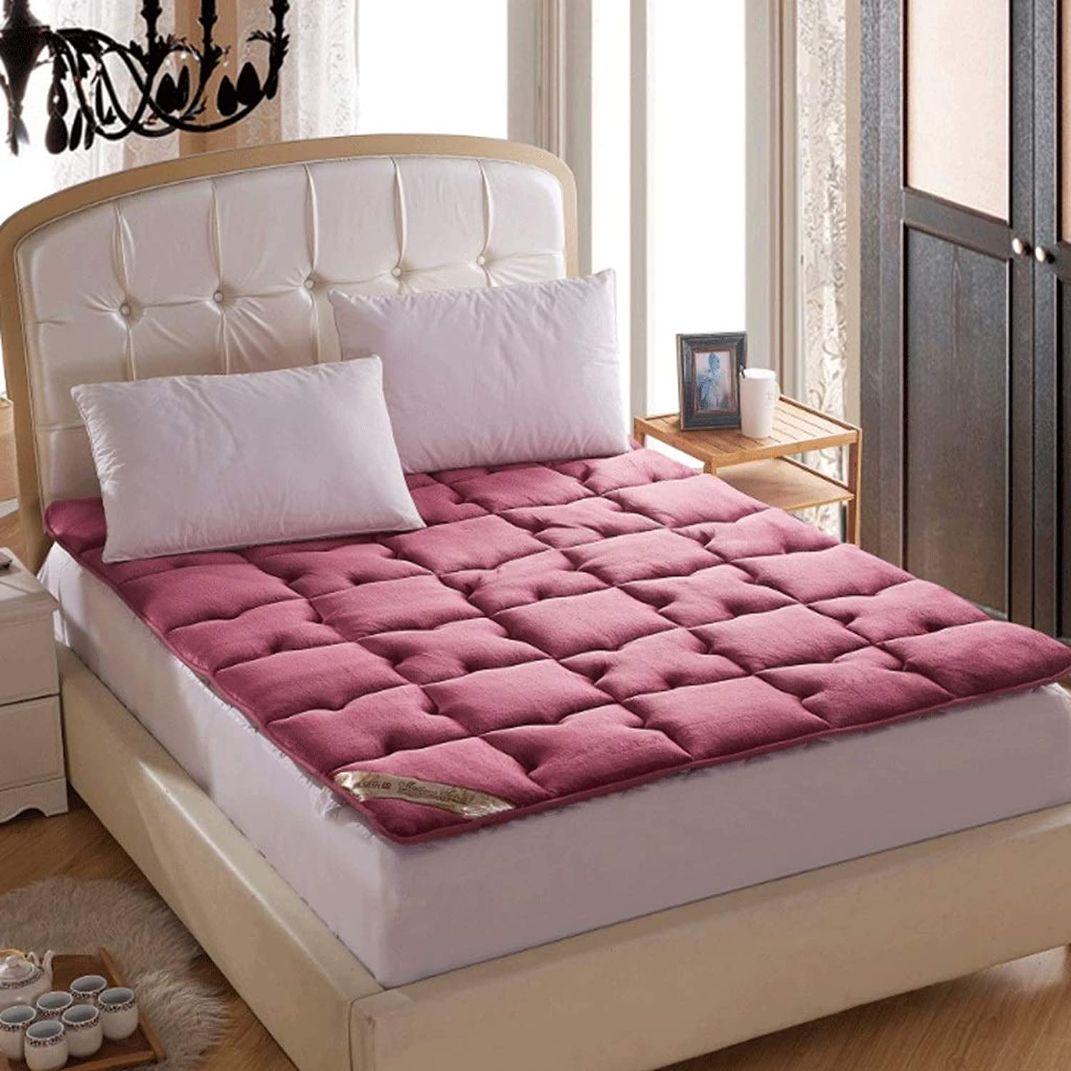 Thick Warm Tatami Mattress Foldable Single Double Household Mat (color   2, Size   90x200cm)