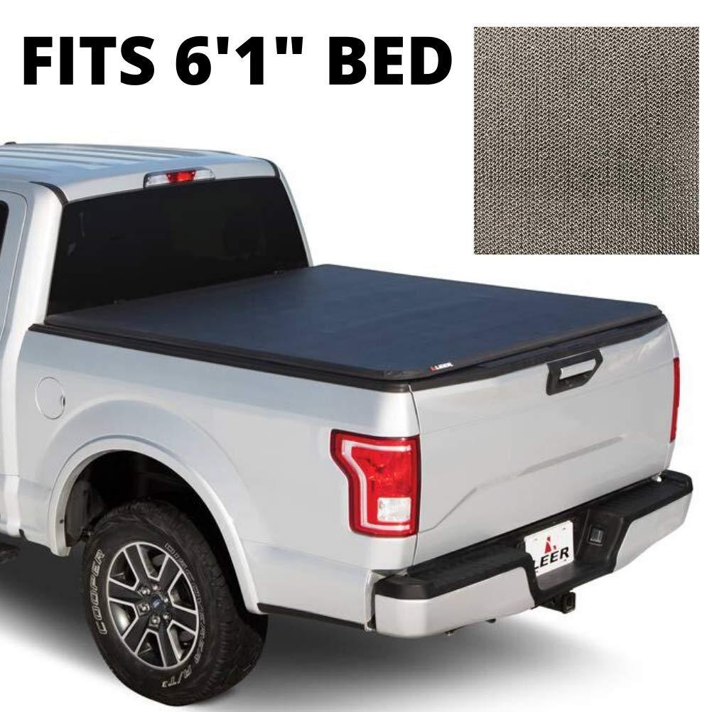 Amazon Com Leer Latitude Sc Fits 2013 Nissan Frontier Easy Install Soft Tri Fold Truck Bed Tonneau Cover Matte Black 6 1 Ft Bed Automotive