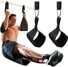 DOBEN Hangende af-straps armlussen voor buiktrainingstoestellen met D-ring-snelsluitingen, scheurvaste fitnessbanden, buik...