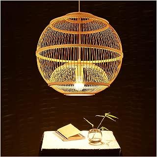 WB_L Southeast Asian Restaurant Hanging Lamp, Creative Bamboo Lantern Chandelier for Living Room Bedroom