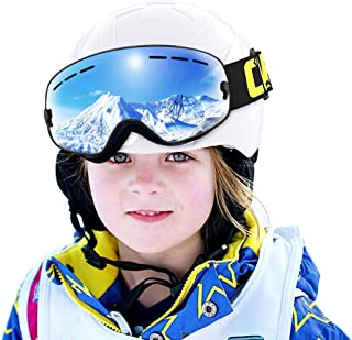 COPOZZ Kids Ski Goggles, G3 Kids Snow Snowboard Goggles - Helmet Compatible Over Glasses OTG Design Non-Slip Strap UV Protection for Children Youth Boys Girls